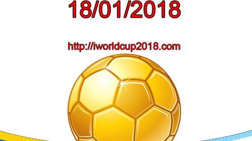 Lịch thi đấu bóng đá hôm nay và ngày mai 18/1/2018