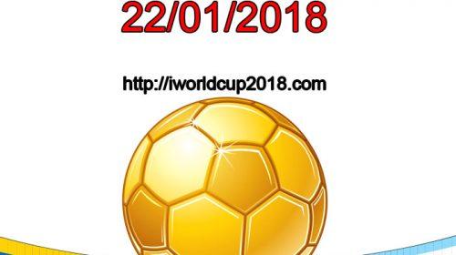 Lịch thi đấu bóng đá hôm nay và ngày mai 22/1/2018