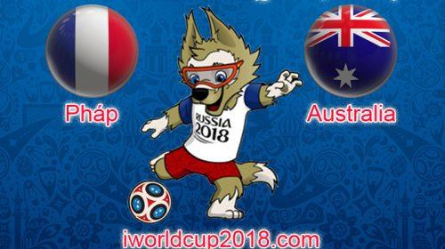 Pháp vs Australia – Soi kèo World Cup – 16/6/2018