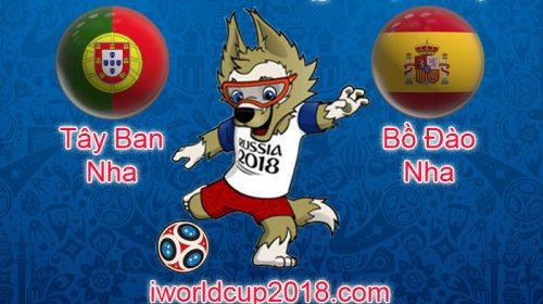 Tây Ban Nha vs Bồ Đào Nha – Soi kèo World Cup 2018 – 16/6/2018