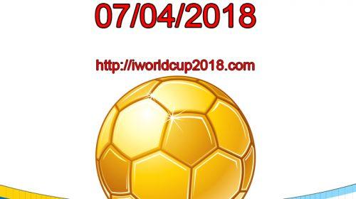 Lịch thi đấu bóng đá hôm nay và ngày mai 7/4/2018