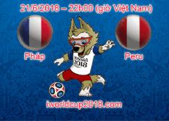 Pháp vs Peru – Soi kèo World Cup – 21/6/2018