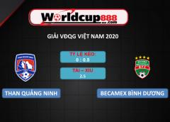 Than Quảng Ninh vs Becamex Bình Dương – Soi kèo bóng đá VĐQG Việt Nam – 26/09/2020