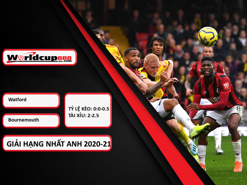 Truoctrandau đưa tin: Watford vs Bournemouth – 18h30 ngày 24/10/2020