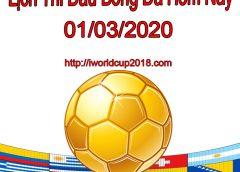 Lịch thi đấu bóng đá hôm nay và ngày mai 1/3/2021