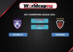 Johor DT vs Pohang Steelers – Soi kèo bóng đá AFC Champions League 2021 – 01/07/2021