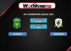 Jeonbuk Hyundai vs Tampines Rovers – Soi kèo bóng đá AFC Champions League 2021 – 01/07/2021